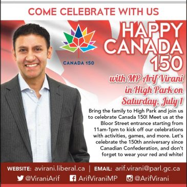 SAT JULY 1: Canada Day in High Park