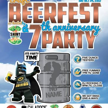 SAT OCT 14: Mini Craft Beerfest & 7th Anniversary at The Bar With No Name